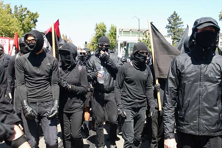 Antifa Protestors